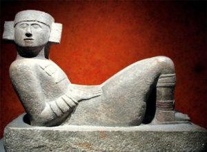Chac-Mool Pre-Columbian Mesoamerican stone statue.