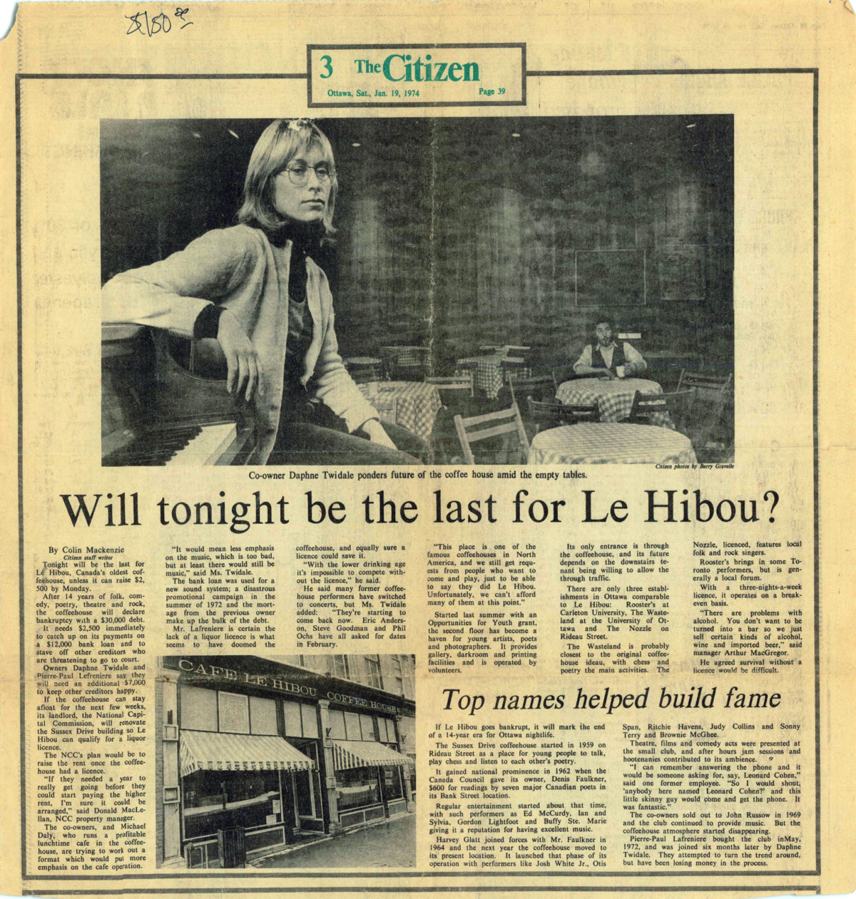 Will Tonight be the Last for Le Hibou?